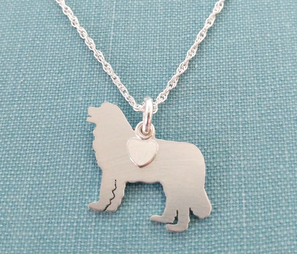 """Sterling Silver Leonberger Pendant and 18"" Chain"""