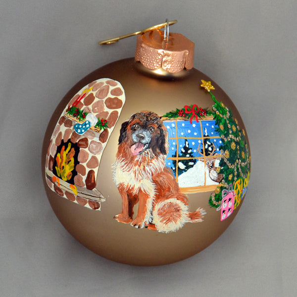 Hand Painted Leonberger Ornament