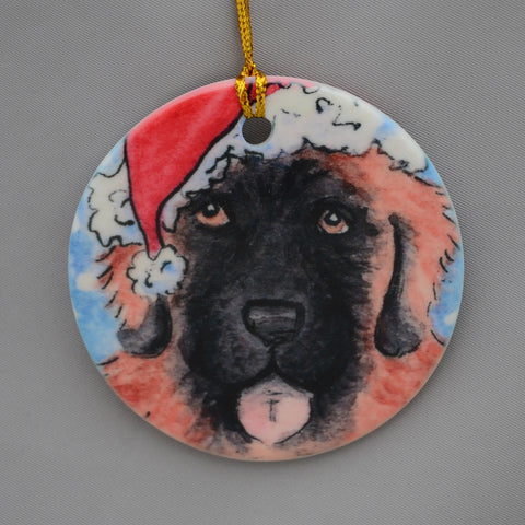 """Santa Claws, leonberger ornament"""