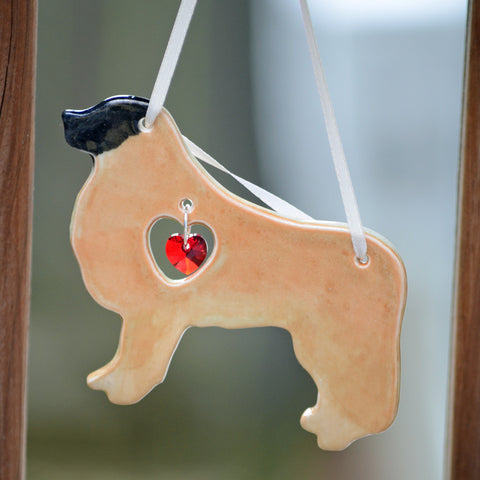 """Porcelain Leonberger Ornament"""