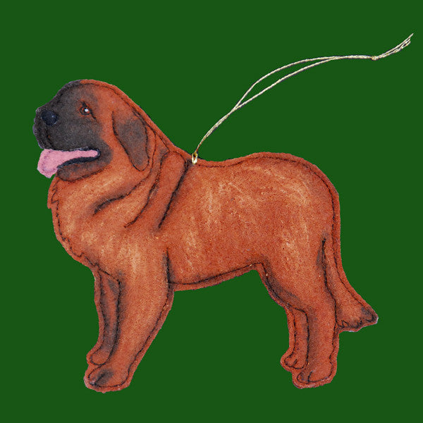 Quilted Wool Leonberger Ornament