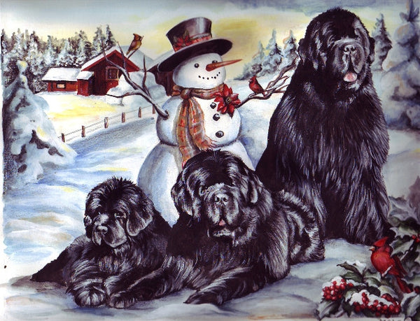 Newf Christmas Cards (Maleo) - sold individually