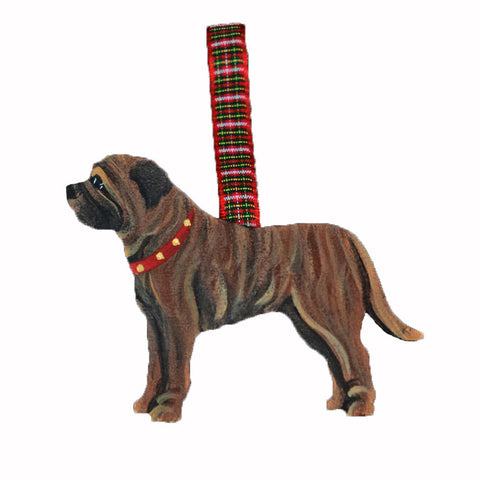 Hand Crafted Mastiff Ornament - Brindle