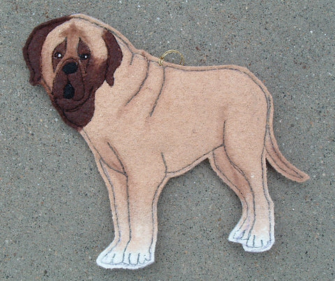 Quilted Wool Mastiff Ornament
