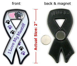 I Love My Mastiff Ribbon Tagnet - Magnet
