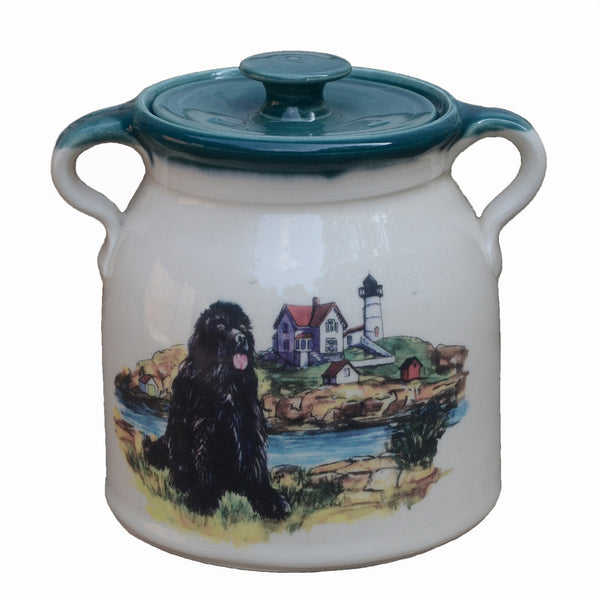Handmade NEWF Bean Pot - 2 Quart