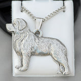 Antiqued Pewter Newfoundland Pendant w/chain