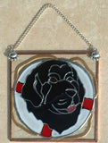 Stained Glass Newfoundland Life Ring Ornament/Suncatcher