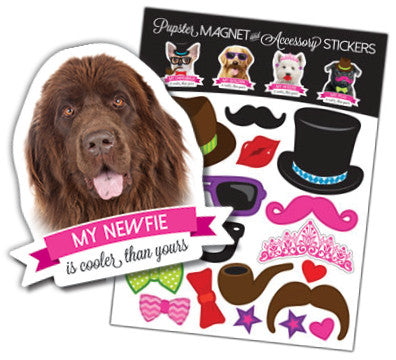 Newf Pupster Magnet & Accessory Stickers