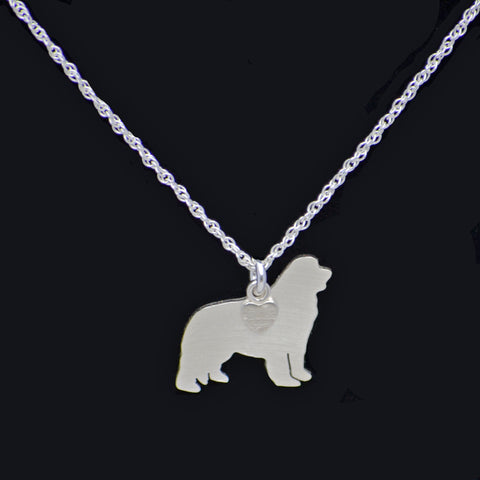 """Sterling Silver Newf Pendant and 18"" Chain"""