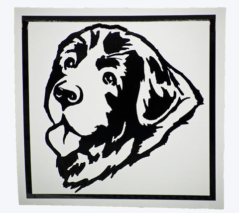 Newf Head Decal