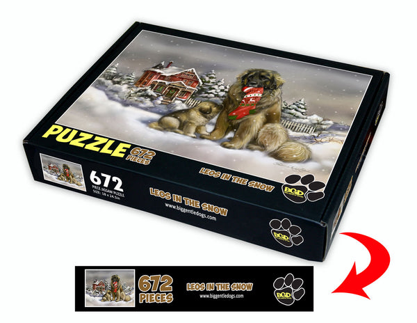 Leos in the snow - 672 piece puzzle