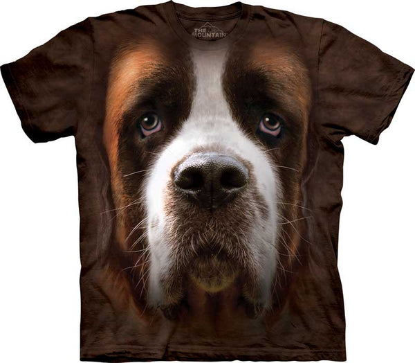 """Saint Bernard Big Face T-shirt in Adult Sizes"""