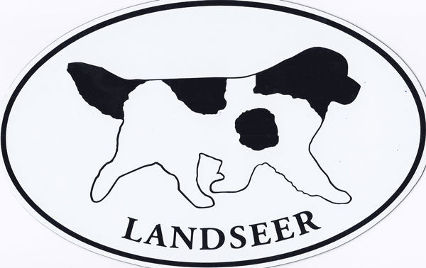 Walking Landseer w/text