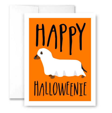 Happy Halloweenie - Single Card