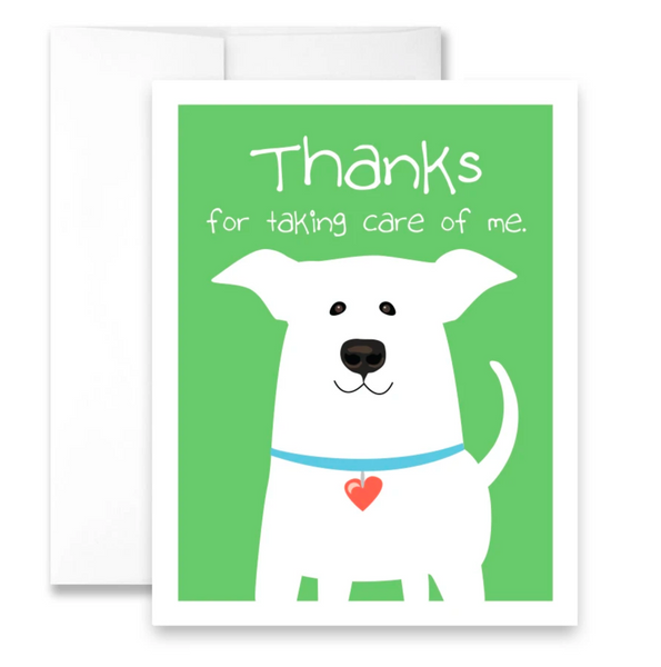 thanks for taking care of me. - single card
