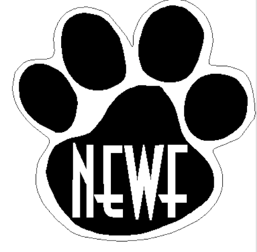 NEWF paw decal