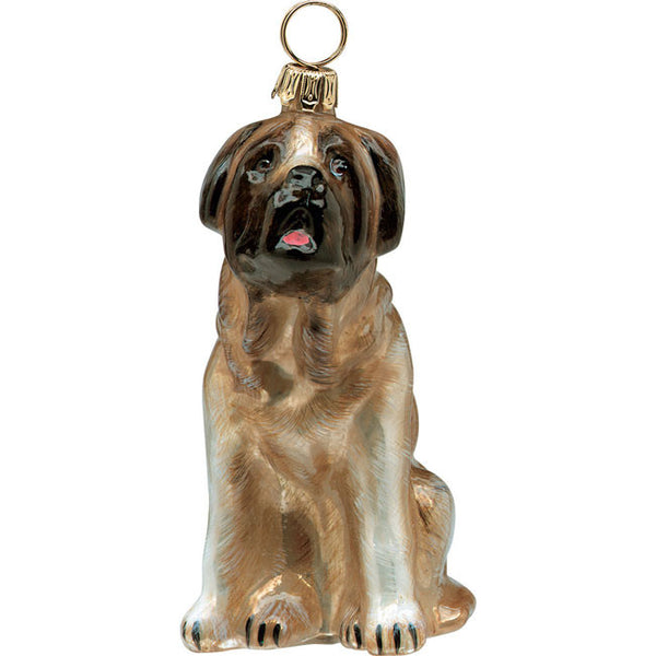 Mastiff Glass Ornament