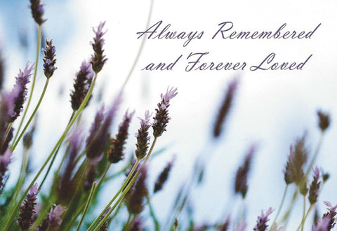 Always Remembered and Forever Loved, Sympathy Card 2 pack