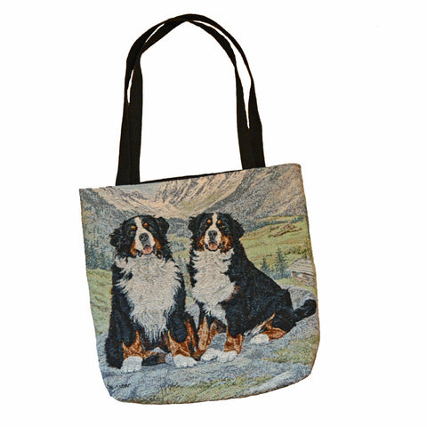 """Two Berners, Tapestry Tote Bag"""