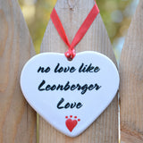 """Leonberger Porcelain Heart Ornament"""