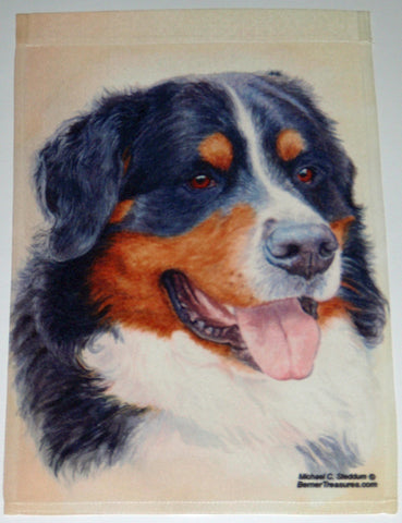 Bernese Head Study - Garden Sized Flag