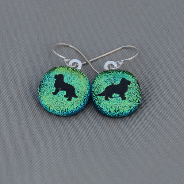 Dichroic Fused Glass Bernese Earrings