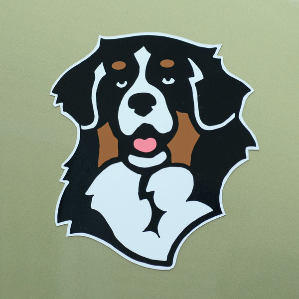 """Full Color Bernese Head Decal"""