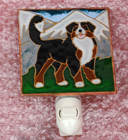 """Stained Glass Bernese Night Light"""