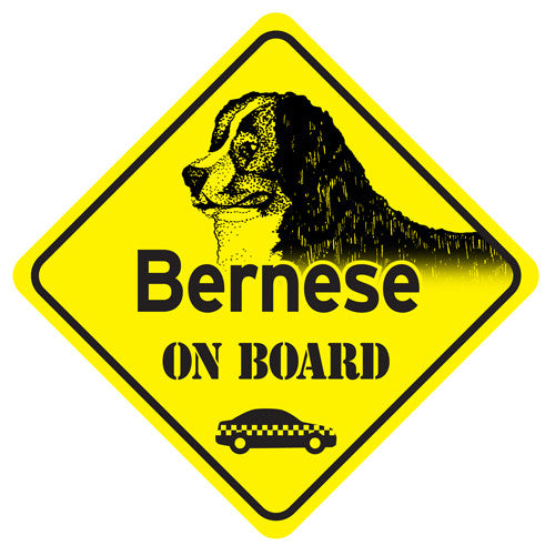 Bernese On Board Sign