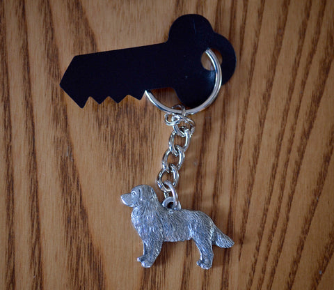 Antiqued Pewter Bernese Keychain