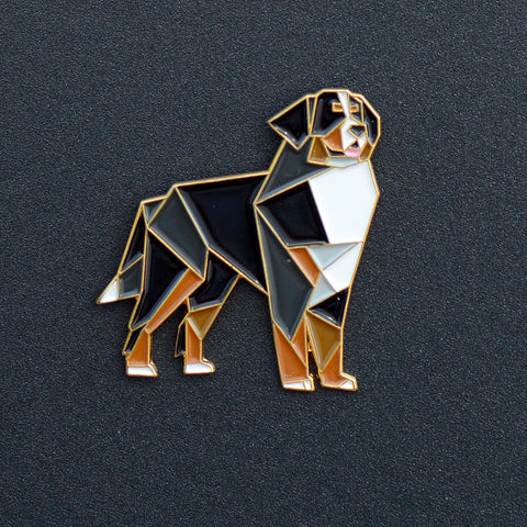 Bernese Origami Enamel Pin - NEW