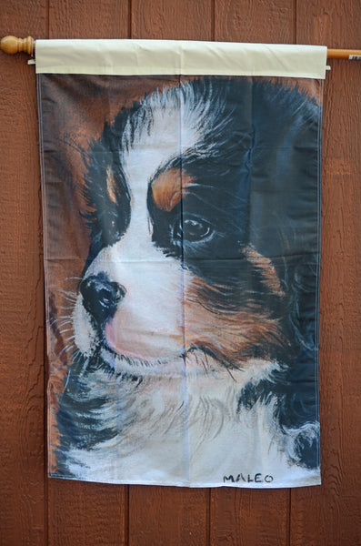 Bernese Puppy – 1 ply full sized flag