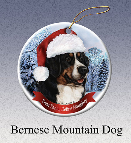 dear santa, bernese ornament