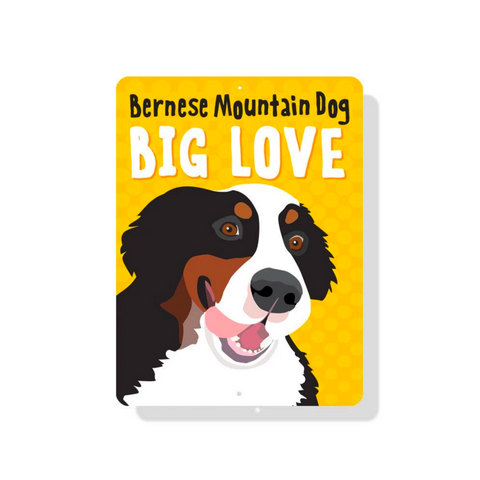 outdoor aluminum bernese sign