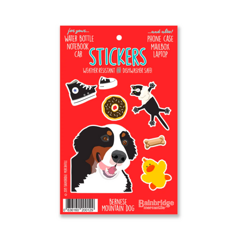 Weather Resistant Bernese Stickers