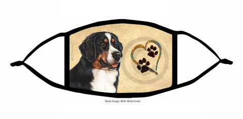 paws on my heart bernese face mask