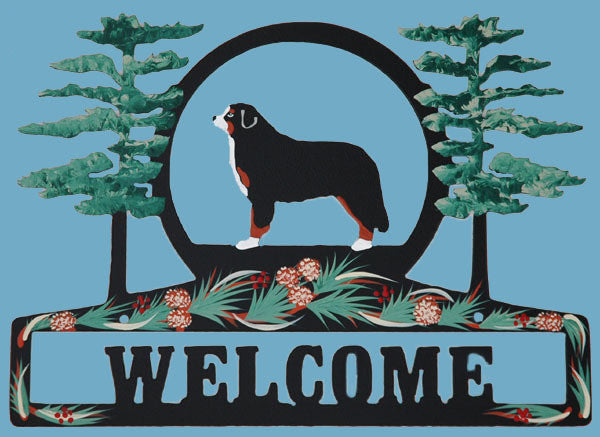 Hand Painted Bernese Welcome Sign