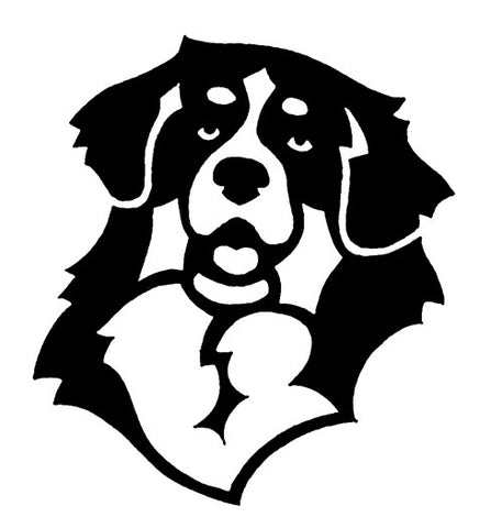 Bernese Mountain Dog Decal for Tinted Glass - WHITE