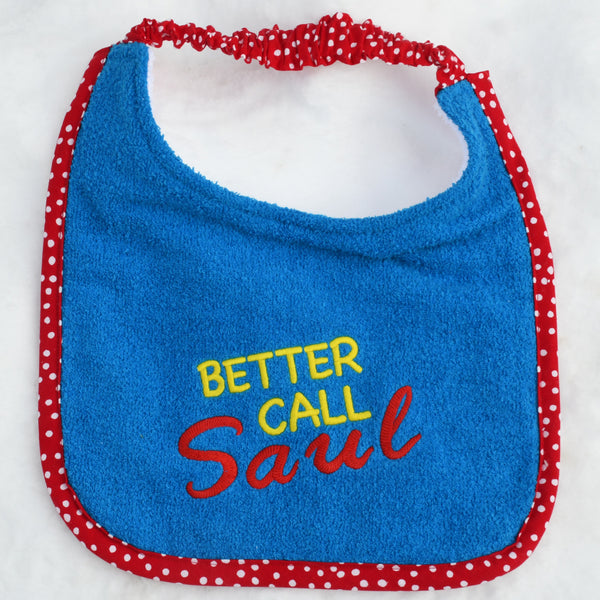 better call saul, Drool Bib - blue