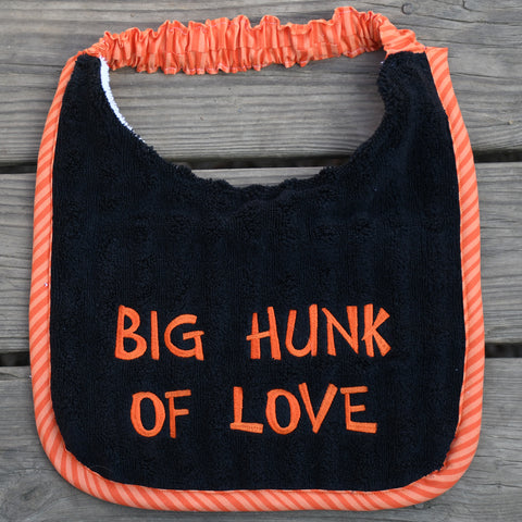 big hunk of love, Drool Bib