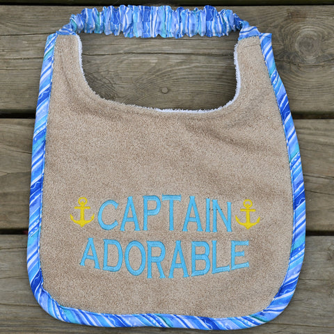 captain adorable, Drool Bib