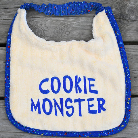 cookie monster, Drool Bib