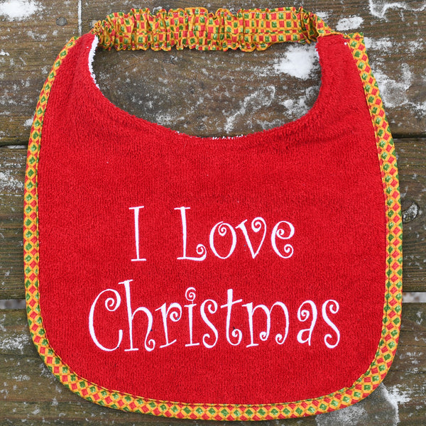 holiday: i love christmas, Drool Bib