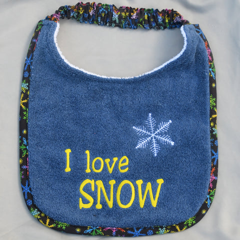 i love snow, Drool Bib