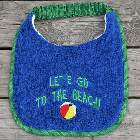 let's go to the beach, Drool Bib