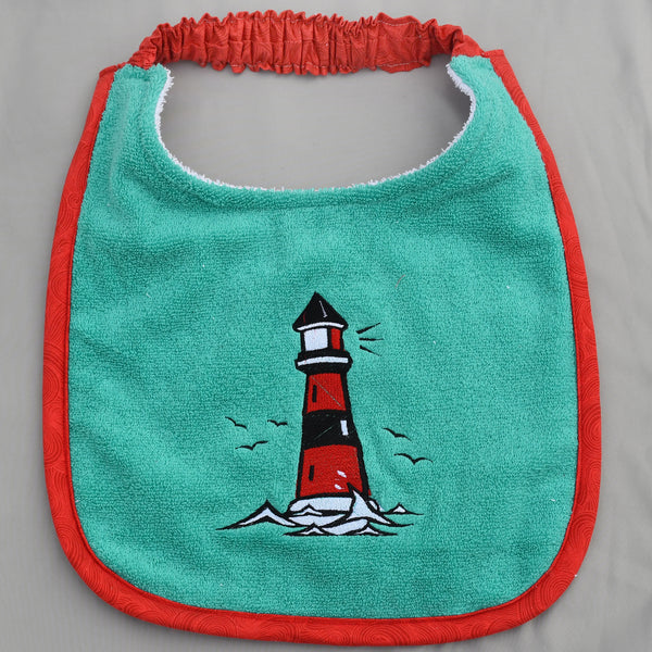 lighthouse, Drool Bib
