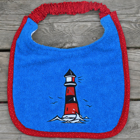 light house, Drool Bib