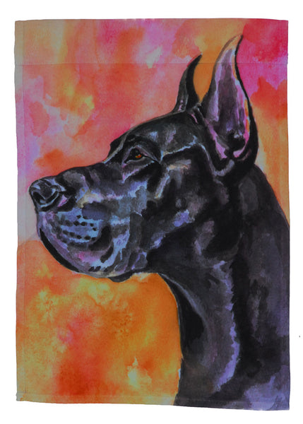 Great Dane, Black - Garden Sized Flag
