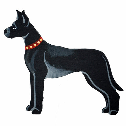 Hand Crafted Great Dane Ornament - Black